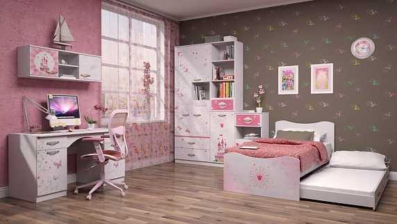 0fa02dfe703f0fb01d0fc03600861a22 8 - Принцесса 09 кровать-чердак (Ижмебель)