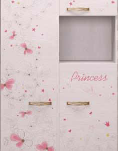 Принцесса 14 шкаф комбинированный