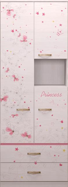 14 15 - Принцесса 14 шкаф комбинированный