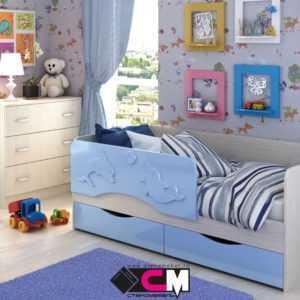 """163d53d2f7c531255f431b9a1e727504 300x300 - Детская кроватка """"Алиса"""" 80х160 см"""