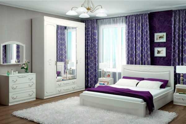 27501 modulnaya mebel dlya spal 600x400 - Мария-Луиза 04 шкаф  4-х дверный с зеркалом