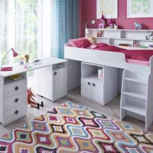 "2white wood table 1 300x300 - Кровать-чердак ""Малыш-5"""