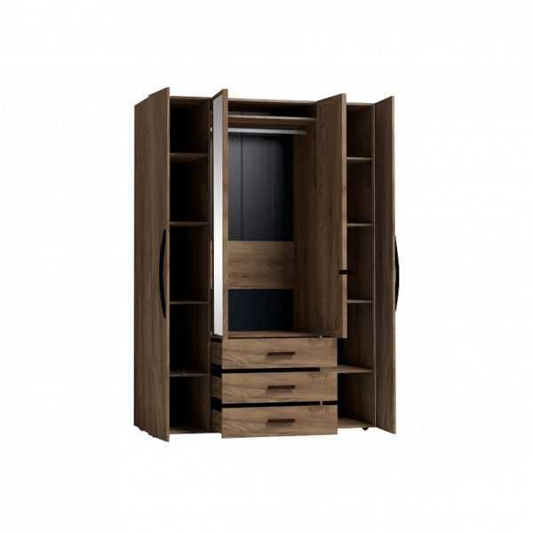 5 43 600x600 - Nature 555 Шкаф для одежды и белья  4-х дверный