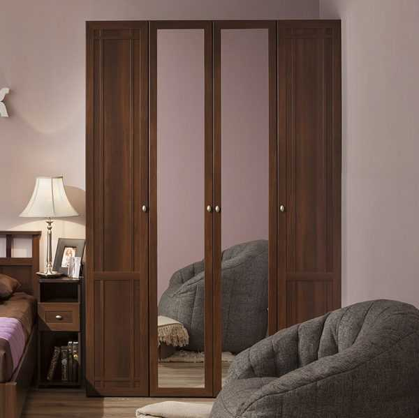 609 600x599 - Sherlock 60 Шкаф для одежды четырехдверный распашной