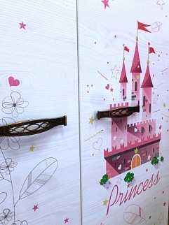 65d83501dd92bfa777a9f58d13f50555 - Принцесса 01 шкаф для одежды 2-х дверный
