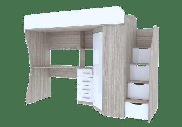 7 10 600x420 - Антилия Кровать-чердак с рабочей зоной и шкафом