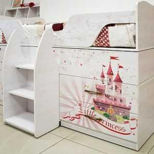 Принцесса 09 кровать-чердак (Ижмебель)