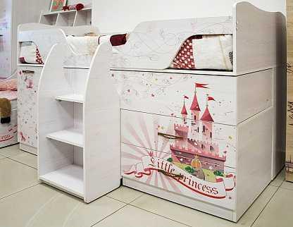 8bdda1f241ecbad35403a59eb7d38a46 - Принцесса 09 кровать-чердак (Ижмебель)