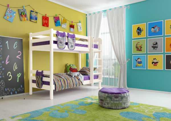 """Кровать """"Соня"""" двухъярусная вариант 9 с прямой лестницей"""