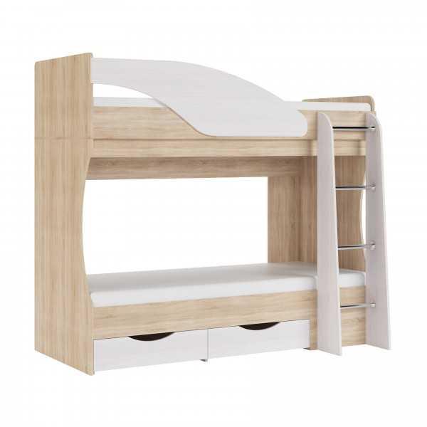 """908 - Двухъярусная детская кровать """"Дельфин"""""""