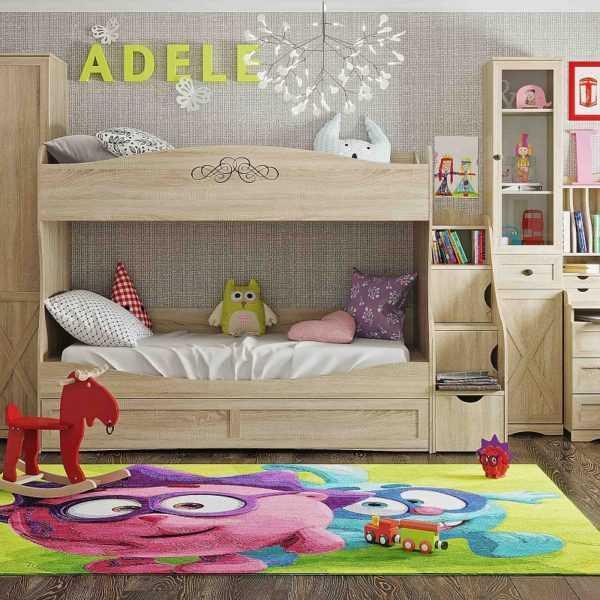 "adel3 600x600 - Кровать двухъярусная ""Adele 90"""