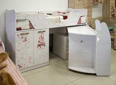 c82091c66730f6987fd8cf9b03992dd4 - Принцесса 09 кровать-чердак (Ижмебель)