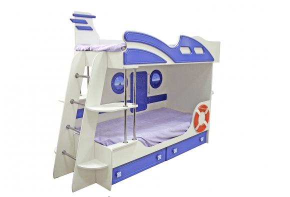 """clip2net 161212230006 161212230008 - Двухъярусная детская кровать Парус """"Яхта-2"""""""
