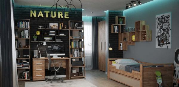 """clip2net 200522130012 200522130013 600x293 - Мебель для подростковой комнаты """"NATURE"""""""