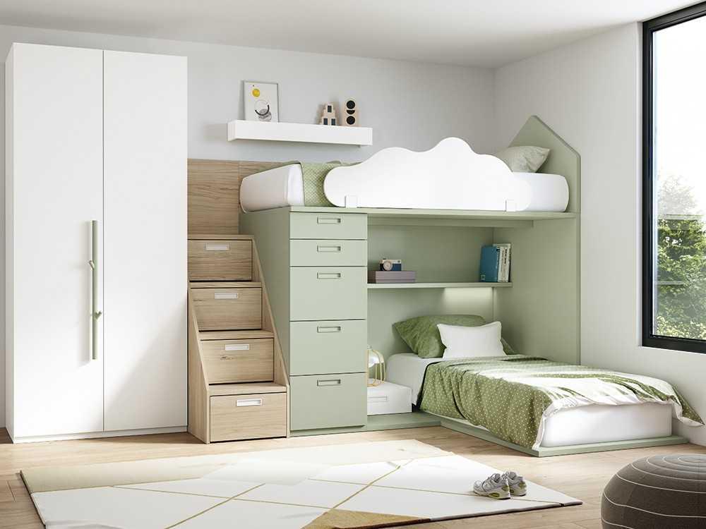 composicion block con lateral casita y cama inferior con tarima stay antaix - Главная