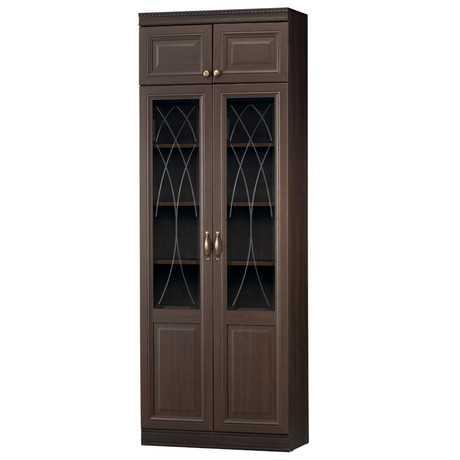 diana11 - Диана 344 шкаф для книг (нортон темный)