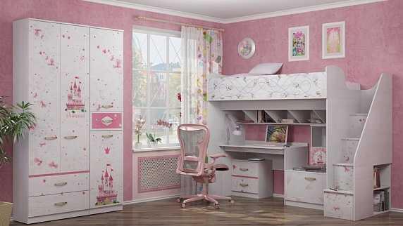 ef95592dab9188148d0c9c6ef239f6f9 17 - Принцесса 20 шкаф для одежды с ящиками