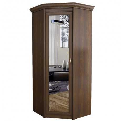 florentsiya10 - Флоренция 662 шкаф угловой с зеркалом (дуб оксфорд)