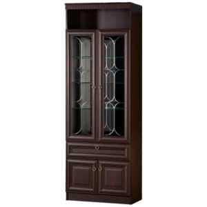Инна 612 шкаф для посуды (денвер темный)