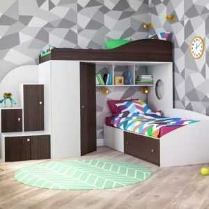 """Кровать-чердак """"Кадет-2"""" для двоих детей"""
