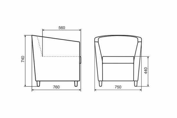 "kreslo lora 10 600x399 - Кресло ""Лора"""