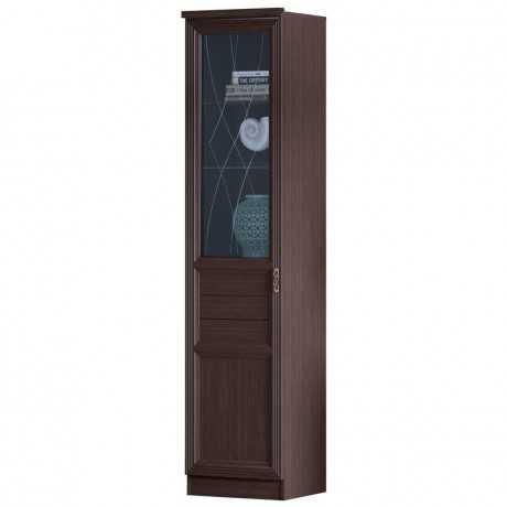 Лира 42 шкаф-витрина (нортон темный)