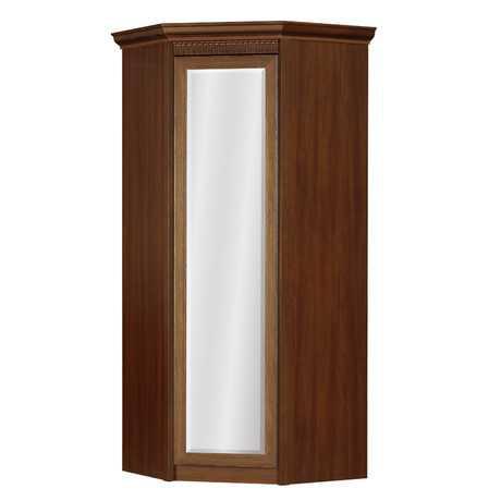 Лючия 183 шкаф угловой с зеркалом (дуб оксфорд)