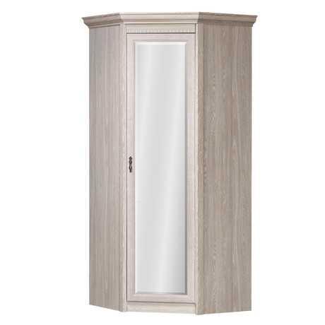 Лючия 183 шкаф угловой с зеркалом (оксфорд серый)
