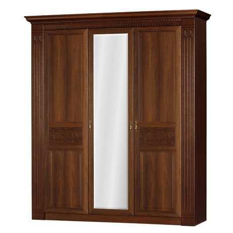 Лючия 180 шкаф трехдверный (дуб оксфорд)