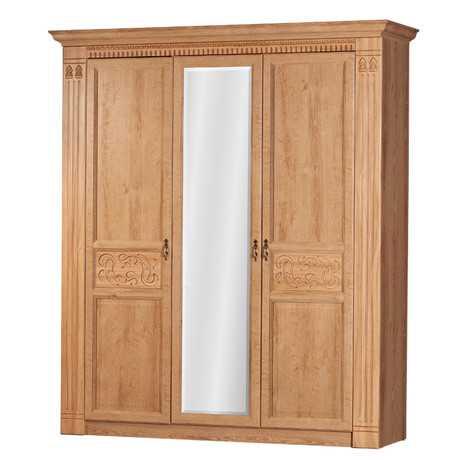 Лючия 180 шкаф трехдверный (дуб ридинг)