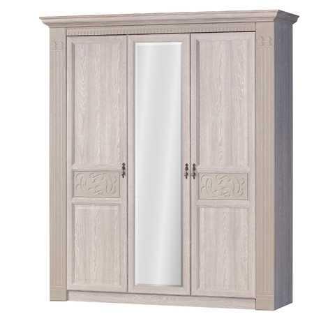 Лючия 180 шкаф трехдверный (оксфорд серый)