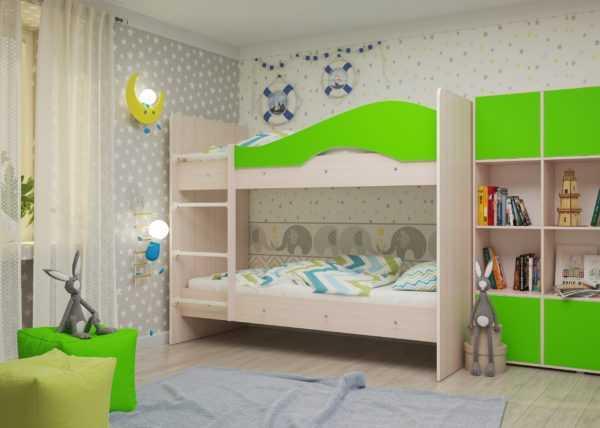 """maya lajm 1 scaled 600x428 - Двухъярусная детская кровать """"Майя"""" со шкафом"""