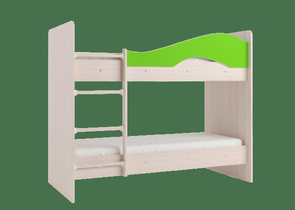 """maya lajm 4 600x428 - Двухъярусная детская кровать """"Майя"""" со шкафом"""