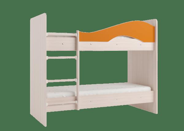 "maya oranzh 3 600x428 - Двухъярусная детская кровать ""Майя"" со шкафом"