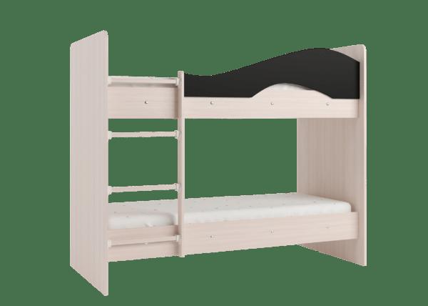 """maya venge 3 600x428 - Двухъярусная детская кровать """"Майя"""" со шкафом"""