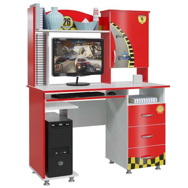 mm formula stol red 600x600 1 - Формула Компьютерный стол (красный)