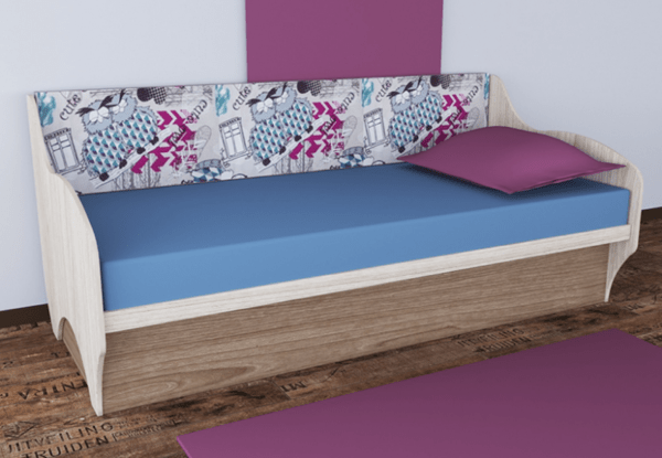 """molodezhnaya avalon divan sofa s podemnym mehanizmom i myagkoy spinkoy1 600x415 - Диван-кровать """"Авалон"""" 90х200 см"""