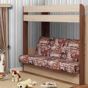 """nemo b matr arkh 300x300 - Кровать-чердак с диваном """"Немо"""""""