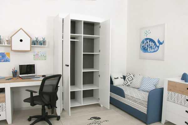 nordic 11 600x399 - Нордик Ш2 шкаф для одежды 2-х дверный