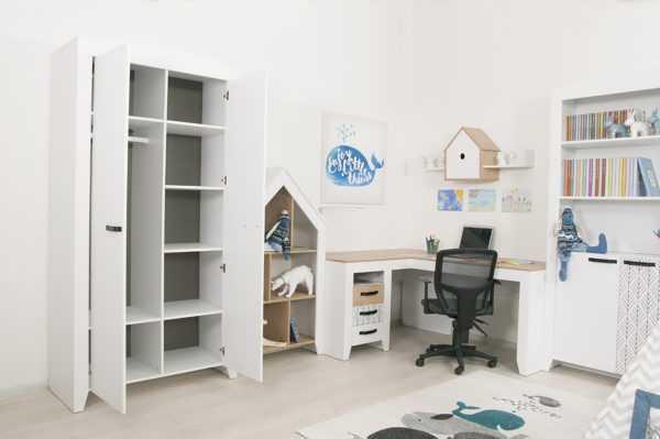 nordic 16 3 600x399 - Нордик Ш2 шкаф для одежды 2-х дверный