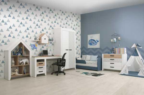 nordic 1 5 600x399 - Нордик Ш2 шкаф для одежды 2-х дверный
