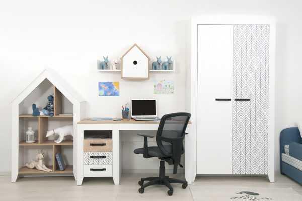 nordic 2 3 600x399 - Нордик Ш2 шкаф для одежды 2-х дверный