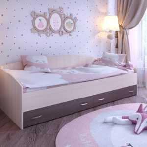 Кровать с выкатными ящиками (Ярофф)