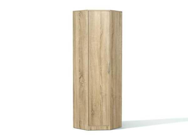 prihozhaya modul shkaf uglovoj dub sonoma 20001 vz 1 600x442 - Модуль Шкаф угловой с зеркалом