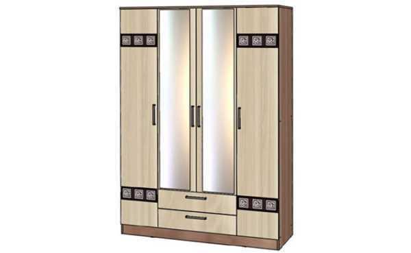 shkaf2 3 600x369 - Коста-Рика Шкаф  4-х дверный