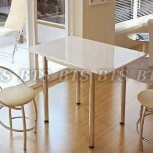 "Обеденный стол ""Белый глянец"""