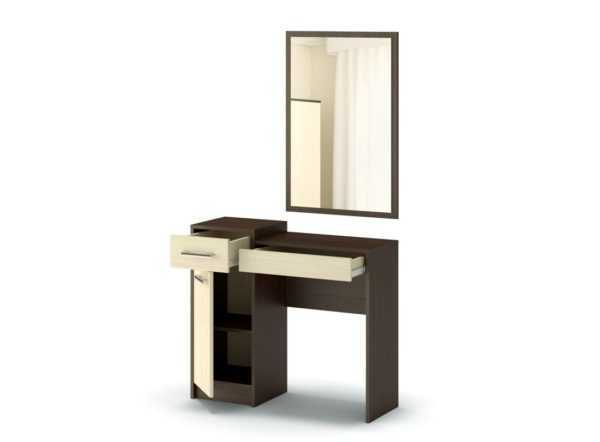 "stolik tualetnyj tango s zerkalom venge dub 600x442 - Туалетный стол ""Танго"""