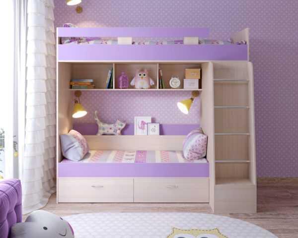 """Двухъярусная детская кровать """"Юниор-6"""""""