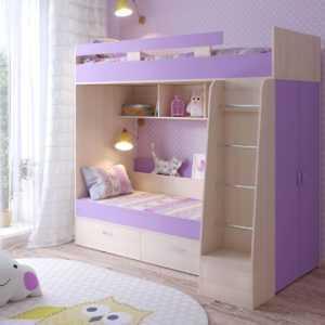 """u oak iris1  300x300 - Двухъярусная детская кровать """"Юниор-6"""" со шкафом"""
