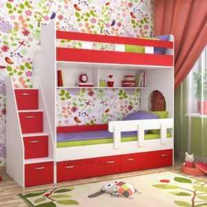 """Двухъярусная детская кровать """"Юниор-1"""""""